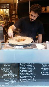 Crepes at the Parisian restaurant