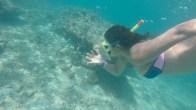 Akshita snorkeling