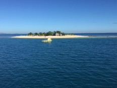 Approaching Beachcomber Island