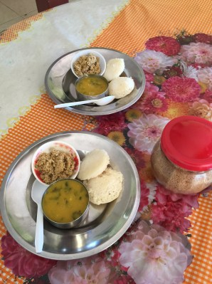 South Indian food at the temple