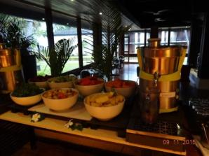 The amazing juice bar at the restaurant
