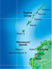 Viti Levu, Mamanuca, and Yasawa Map