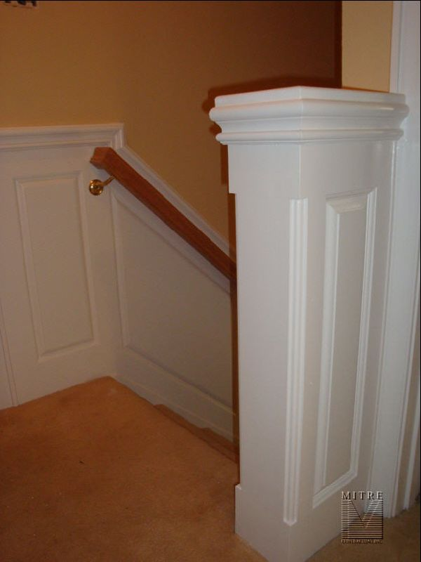 oak chair rail ikea office wainscoting, built-ins and mouldings! - mitre contracting, inc.