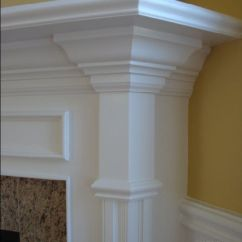 Chair Rail Profiles Leather Recliner Chairs Fireplace Mantel Makeover - Mitre Contracting, Inc.