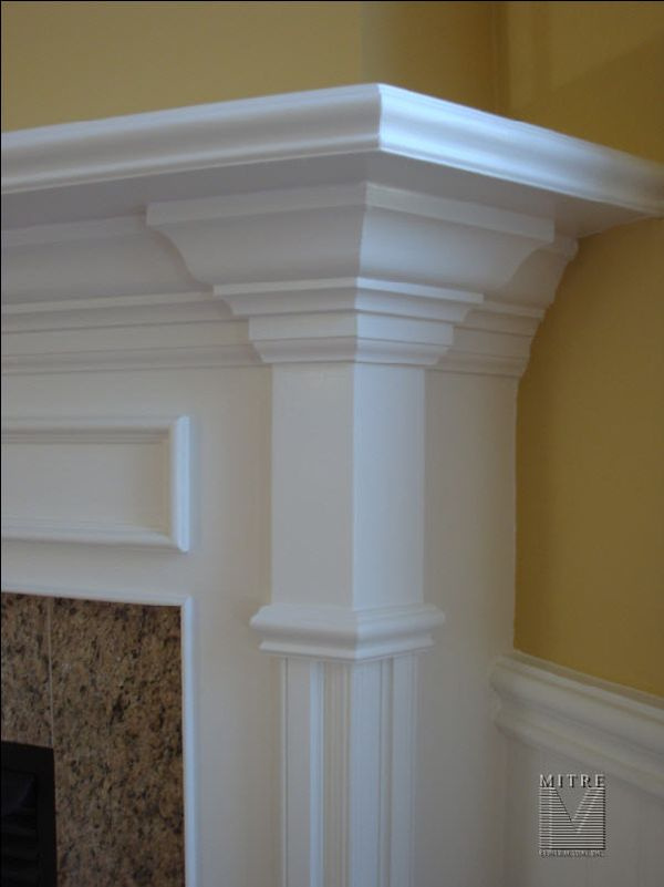 chair rail profiles oval back dining slipcovers fireplace mantel makeover - mitre contracting, inc.
