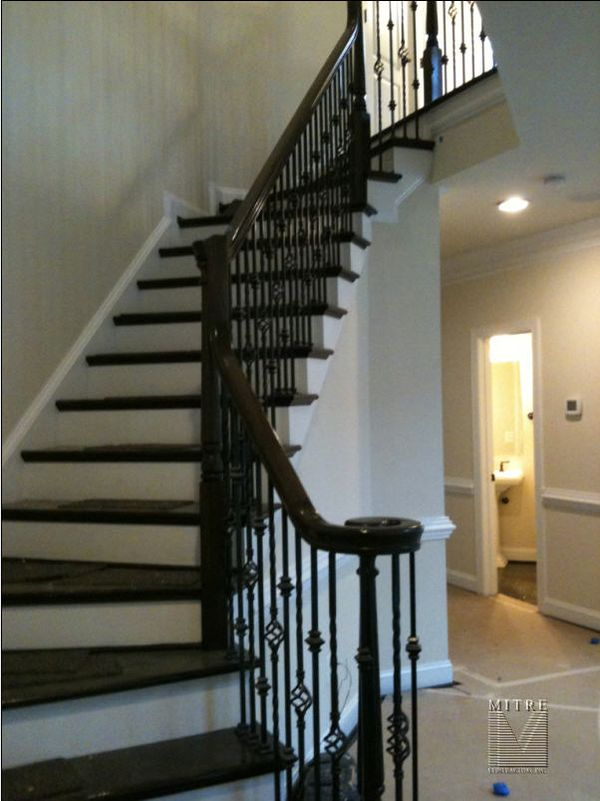 modern chair rail zimmer frame wheelchair wrought iron railings - mitre contracting, inc.