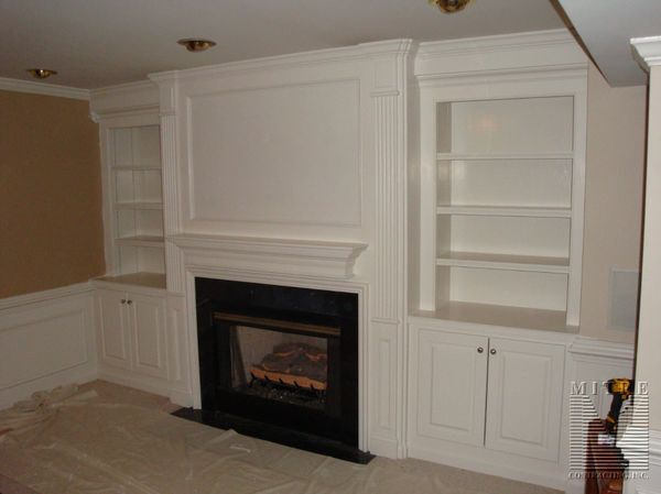 how to renovate a kitchen propane stoves fireplace surround moldings and built-in cabinetry - mitre ...