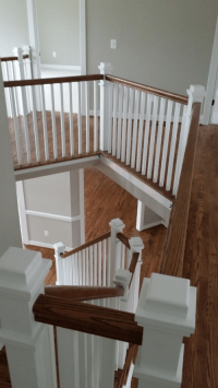 Craftsman Style Stair Railing - MITRE CONTRACTING, INC.