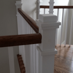 Craftsman Style Kitchen Cabinets Colored Appliances Stair Railing - Mitre Contracting, Inc.