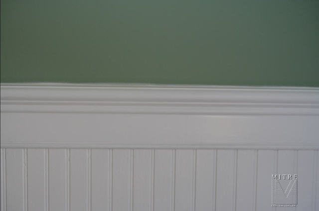 beadboard chair rail brown office chairs wainscoting wainscot close up view