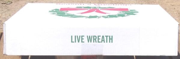 WREATH GIFT BOX - 24x4x24