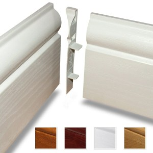 white satin mdf skirting