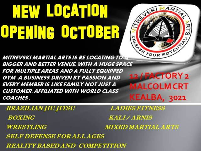 NEW LOCATION OPENING OCTOBER