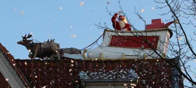 PODCAST – Julebyen Tønder: Den Flyvende Julemand skaber begejstring