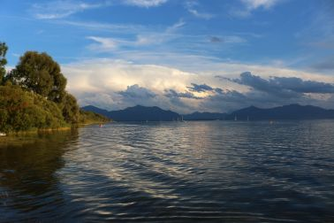 Abendstimmung am Chiemsee