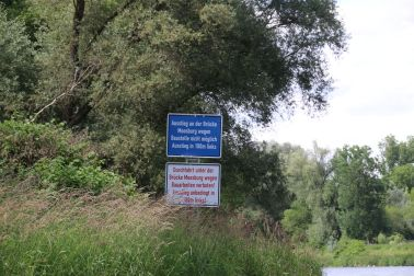 derzeitige Ausstiegsstelle in Moosburg
