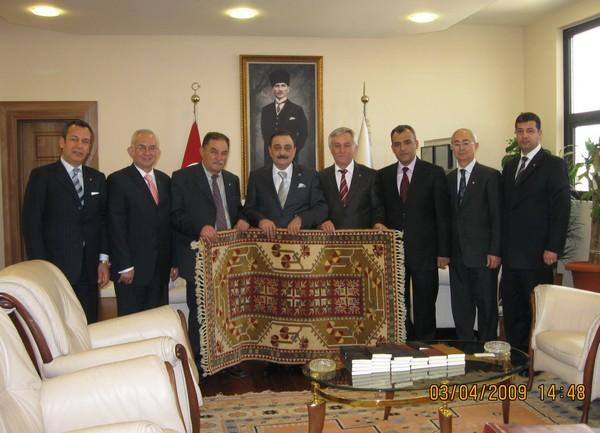 MİTSOdan Ankara Ticaret Odası Başkanı Sinan AYGÜNe ziyaret