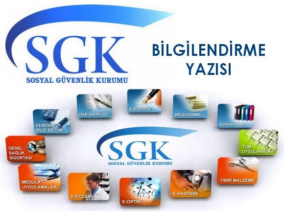 SGK Bilgilendirme Yazısı