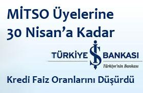 Türkiye İş Bankası, 30 Nisana Kadar Kredi Faiz Oranlarını Düşürdü