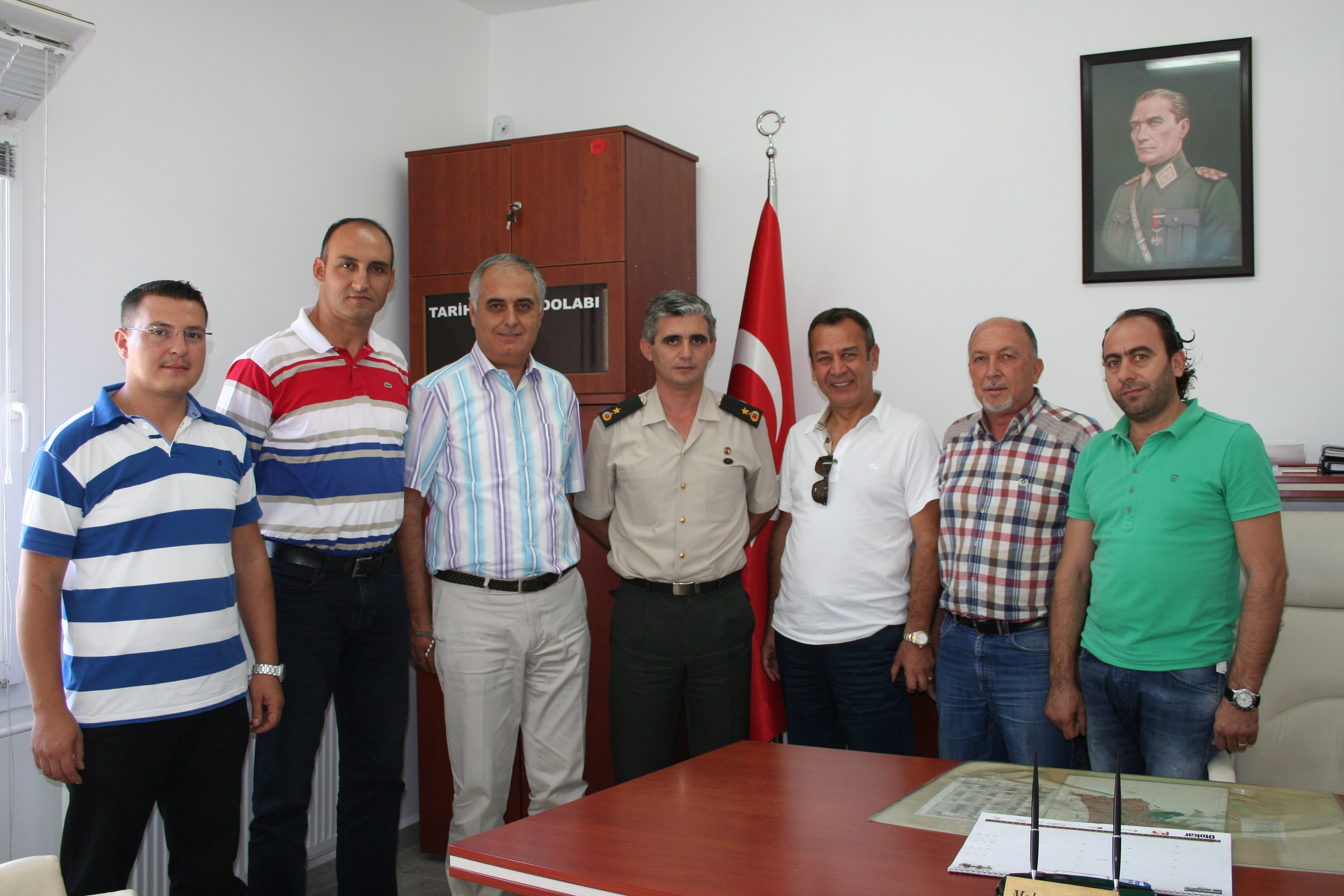 MİTSO Yönetimi, İlçe Jandarma Komutanı J. Bnb. Mehmet Atik'i ziyaret etti