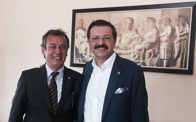 """TOBB Başkanı Hisarcıklıoğlu'ndan MİTSO'ya özel övgü: """"MİTSO'NUN GÖREV ANLAYIŞI VE HİZMETİNDEN GURUR DUYUYORUM"""""""