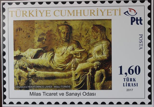 Her şey Milas'ın tanıtımı için…  MİTSO PTT'YE HEKATOMNOS İÇİN ÖZEL PUL BASTIRTTI