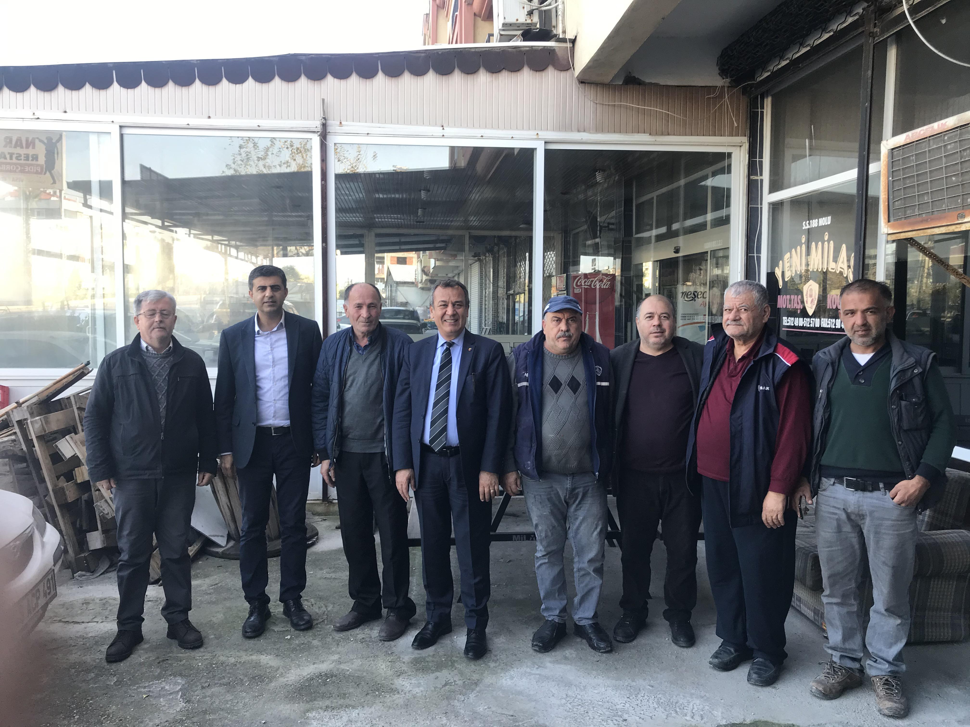 MİTSO'dan üyelere ziyaretler: S.S.188 No'lu YENİ MİLAS MOTORLU TAŞIYICILAR KOOPERATİFİ'NE HAYIRLI İŞLER