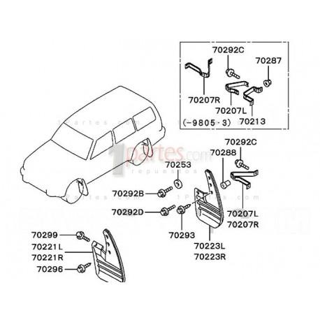 Guardabarro derecho (copiloto)|Mitsubishi|Montero Sport