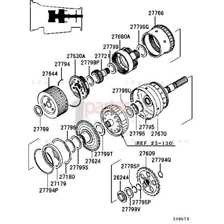 Portaplanetario trasero|Mitsubishi|Montero Sport|Montero