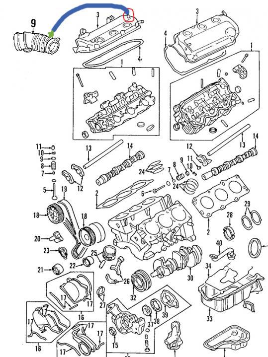 Service manual [2000 Montero Sport Valve Cover Gasget