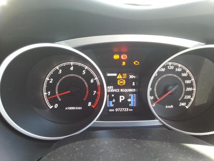 Mitsubishi Endeavor Dashboard Warning Lights
