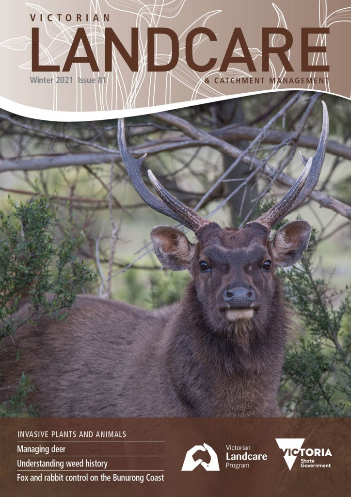 front cover landcare magazine with deer photo