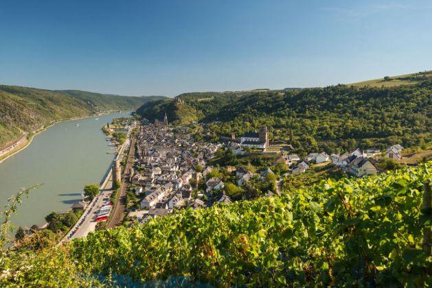 """Blick auf Oberwesel: Auch die Kommunen im Rhein-Hunsrück-Kreis beteiligen sich an der Kampagne """"Gelobtes Land"""". Foto: Dominik Ketz / Rheinland-Pfalz Touristik"""