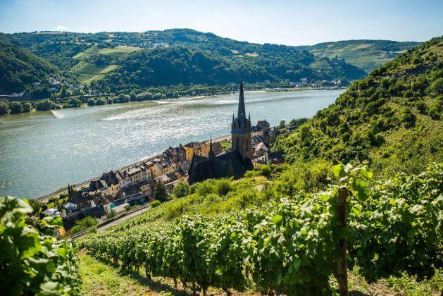 Lorcher Weinberge mit Blick auf Bacharach. Foto: Romantischer Rhein Tourismus / Henry Tornow