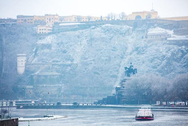 Deutsches Eck im Winter. Foto: Henry Tornow / Romantischer Rhein Tourismus