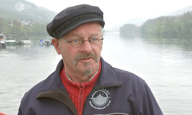 Michael Schnaas ist Fährmann in 4. Generation. Screenshot: ZDF