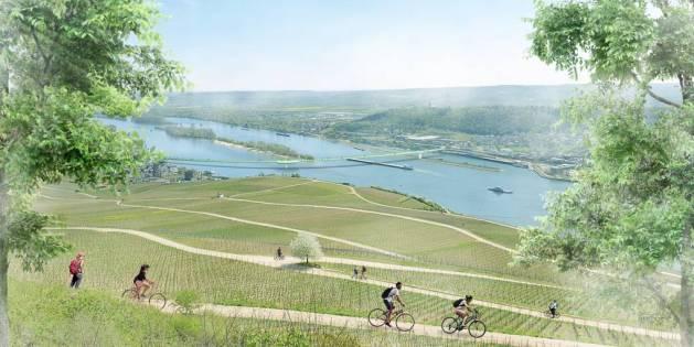 Fußweg mit Aussicht: So könnte die geplante Öko-Brücke aussehen. Visualisierung: Grüne Welle