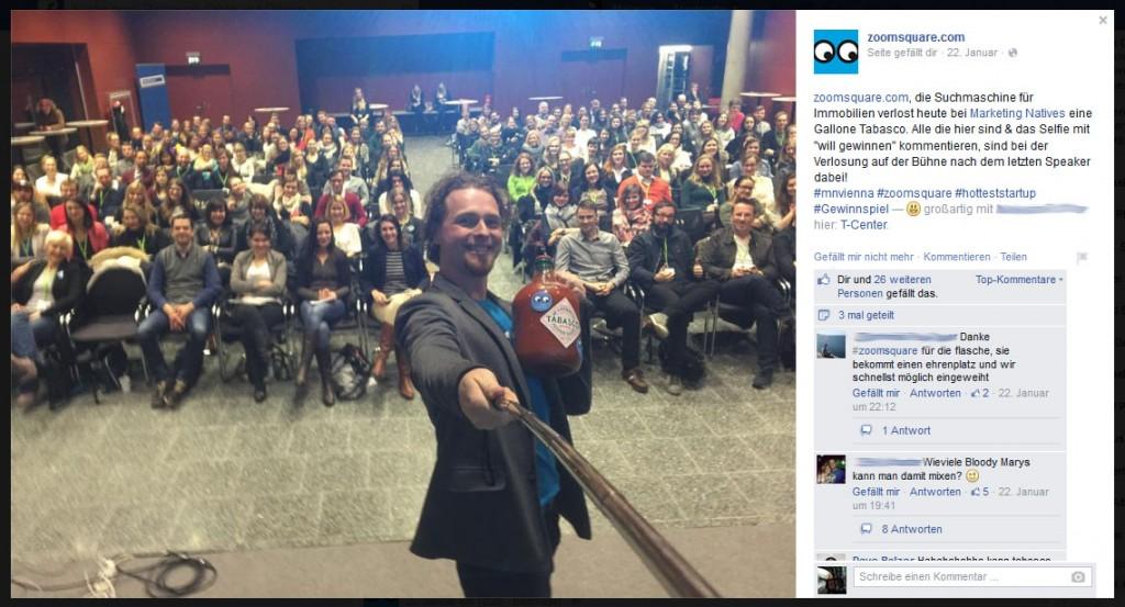 Christoph Richter macht ein Selfie für das Gewinnspiel