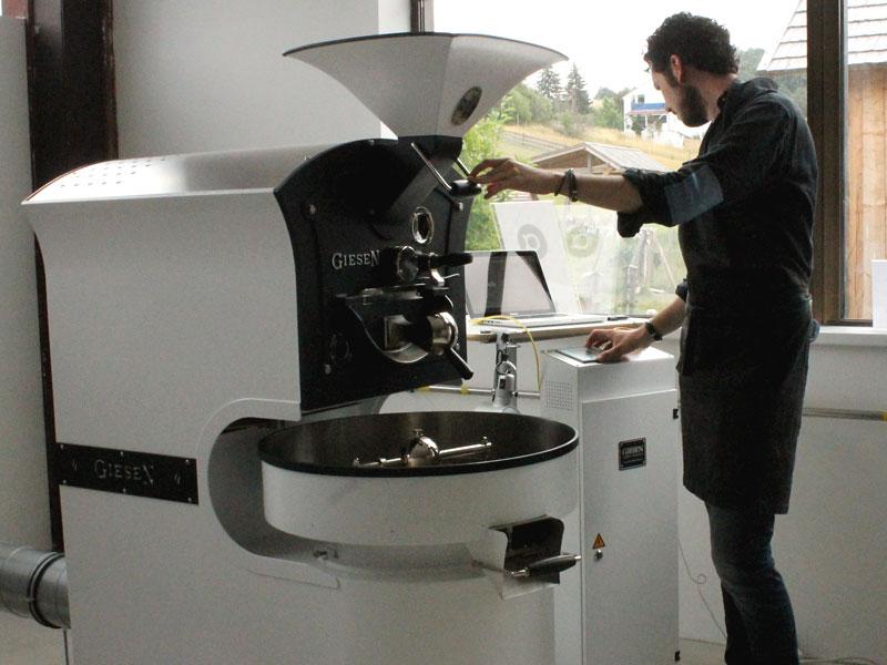 Die Röstmaschine bei ALPHA coffee.
