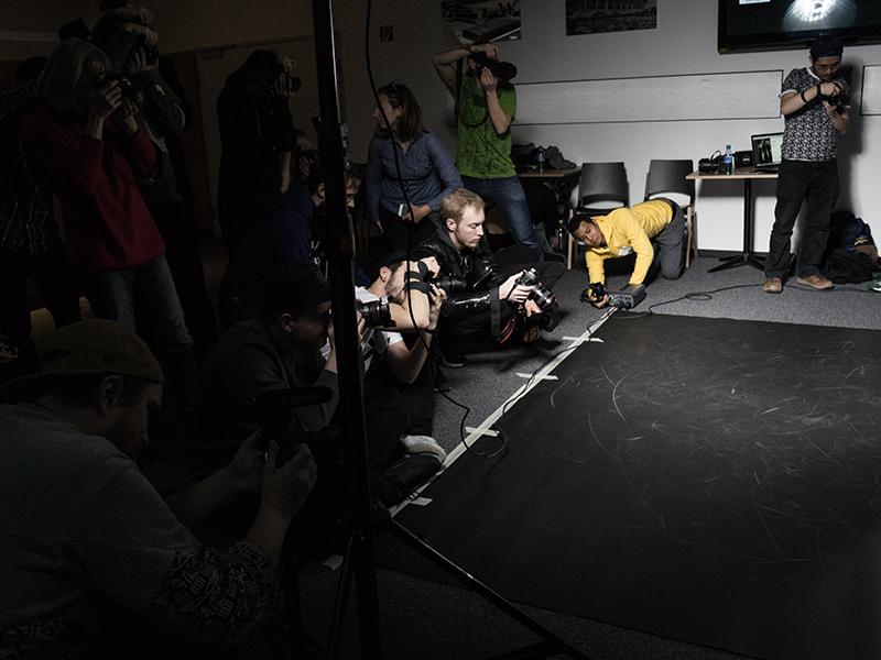 Red Bull Workshop-Teilnehmer beim Fotografieren