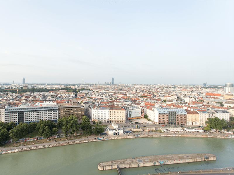 Donaukanal, Blick vom Ringturm