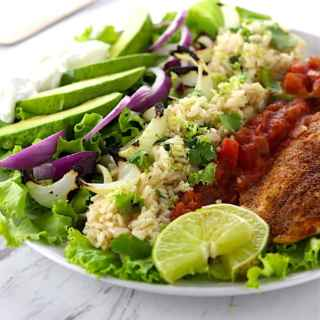 Southwest Grilled Tilapia Salad