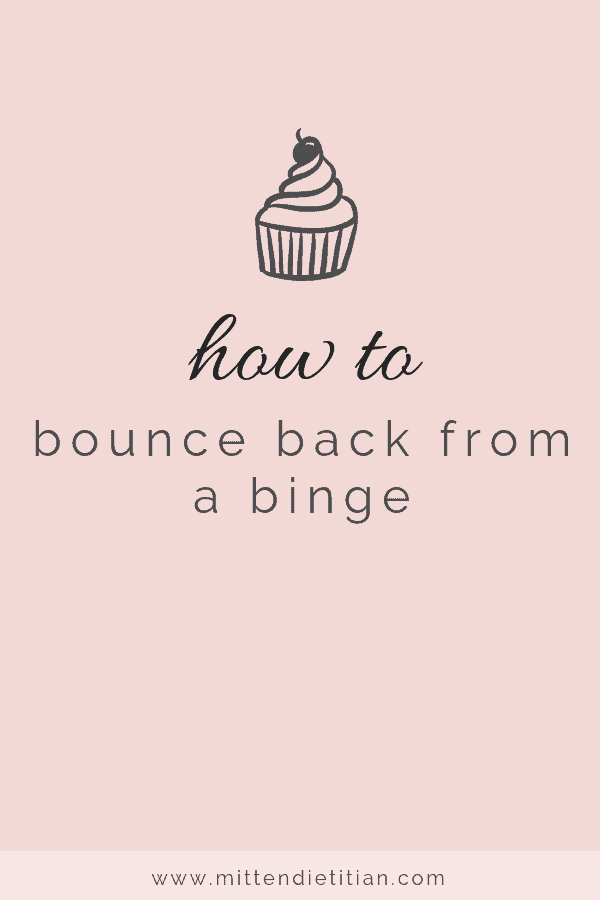 how to bounce back from a binge