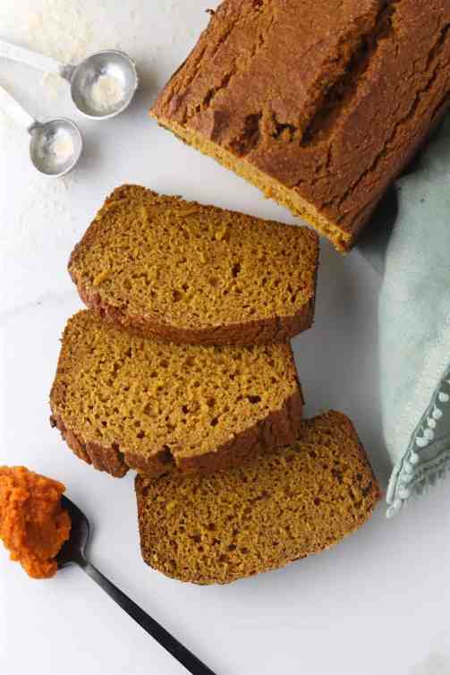 one bowl healthier pumpkin bread