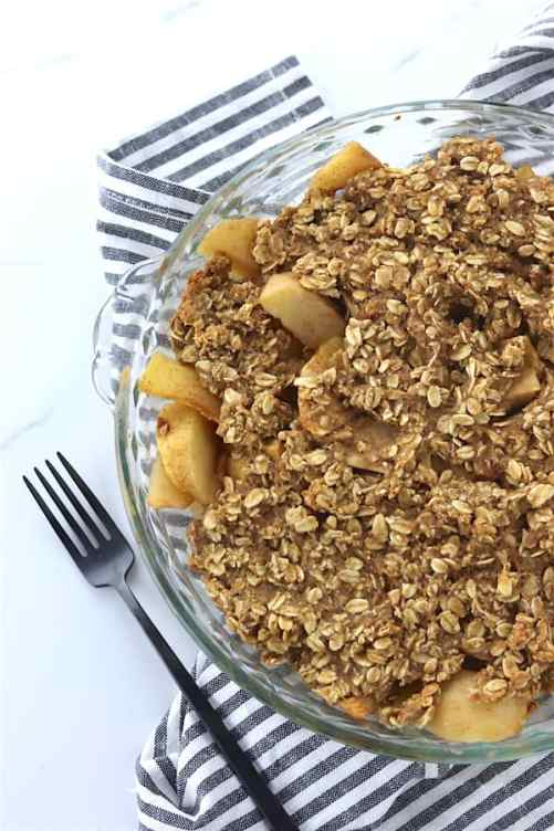 low sugar oatmeal apple crisp 4