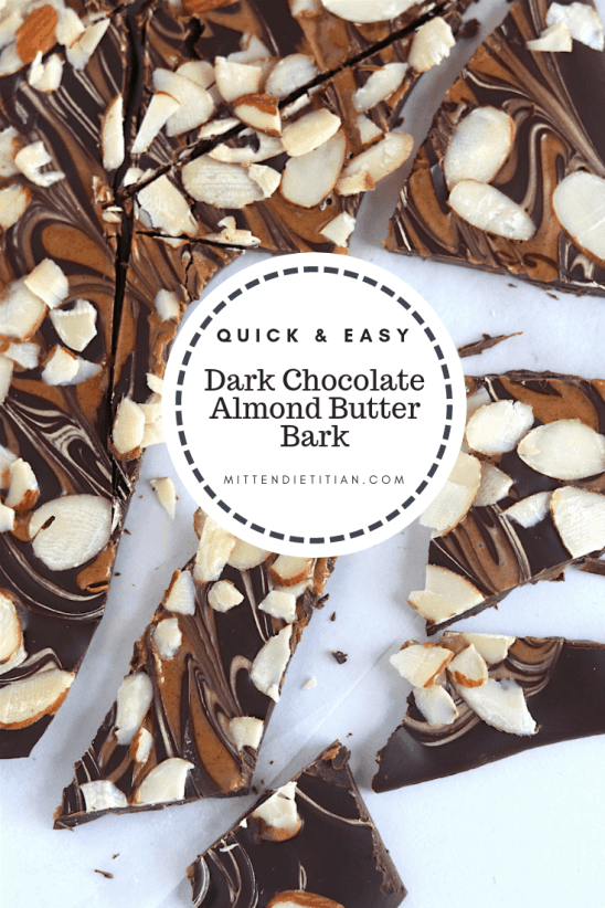 This dark chocolate almond butter bark is SO easy to make, it's fool proof! Everyone will love it! #sponsored #holidaybaking #darkchocolate #almondbutter #healthyfat #chocolatelover