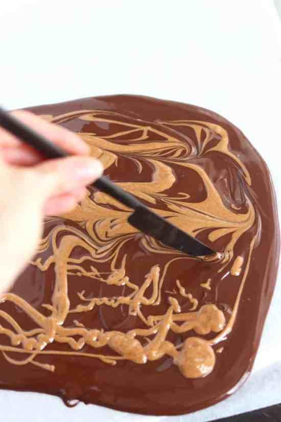 dark chocolate almond butter bark