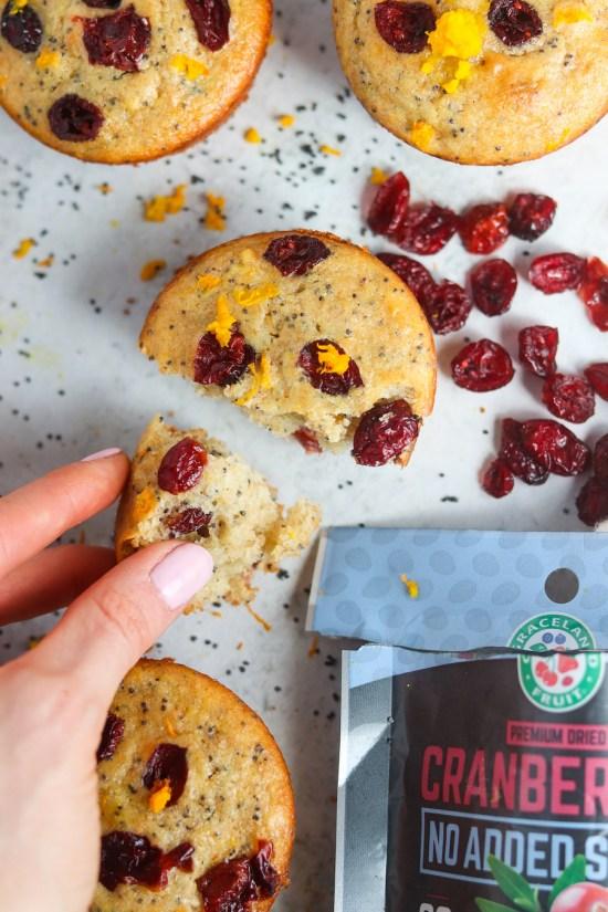 cranberry orange poppy seed muffins
