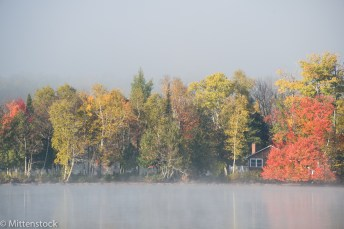 Fog clearing on the lake, Monday
