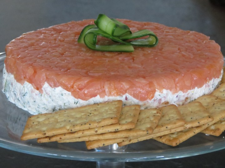 Smoked Salmon, Cucumber, and Dill Mousse